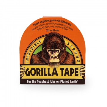 Gorilla Tape Svart 32 m. x 48 mm