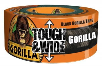 Gorilla Tough & Wide svart 27 m. x 73 mm.